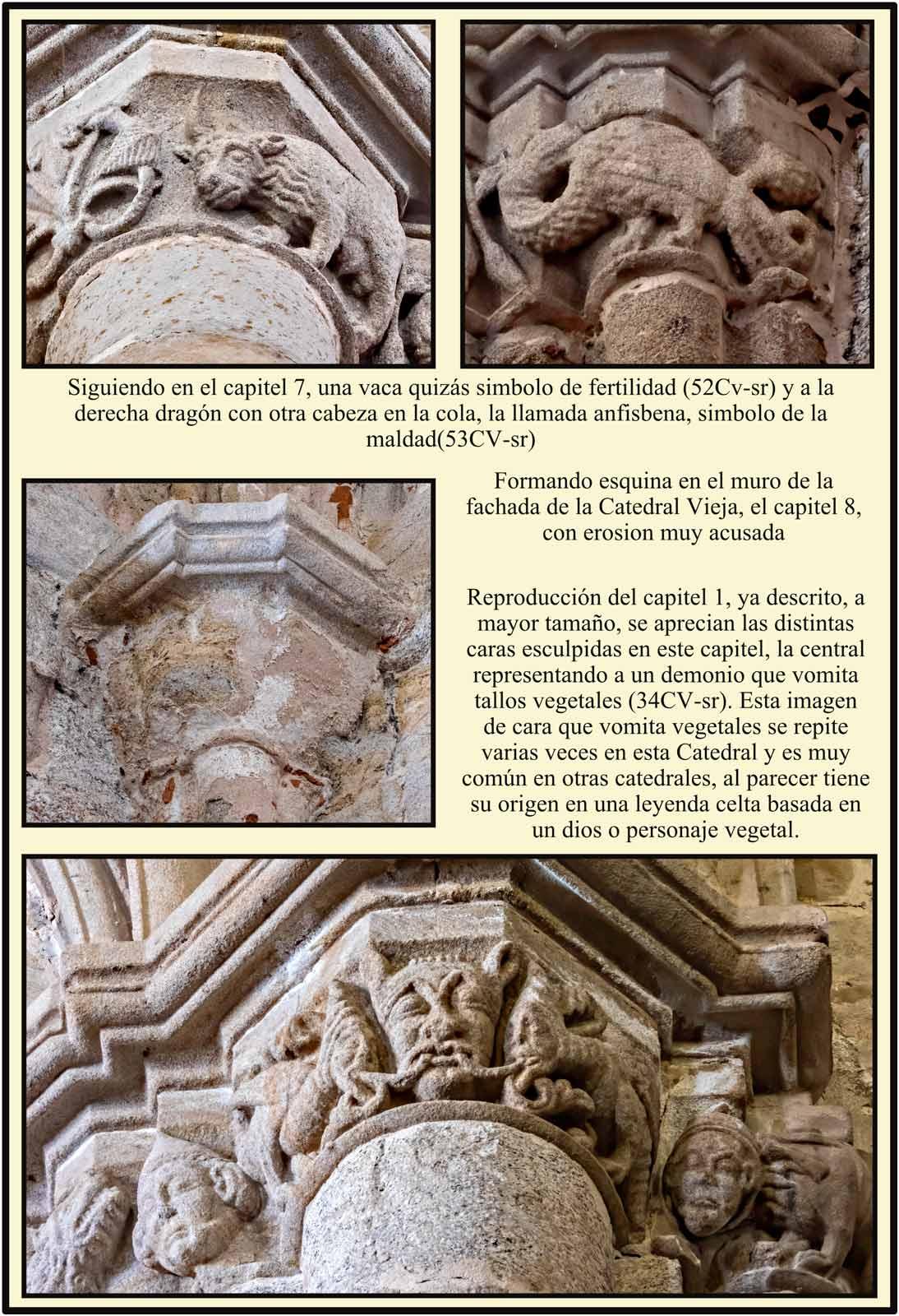 Detalles capiteles romanicos Catedral Plasencia