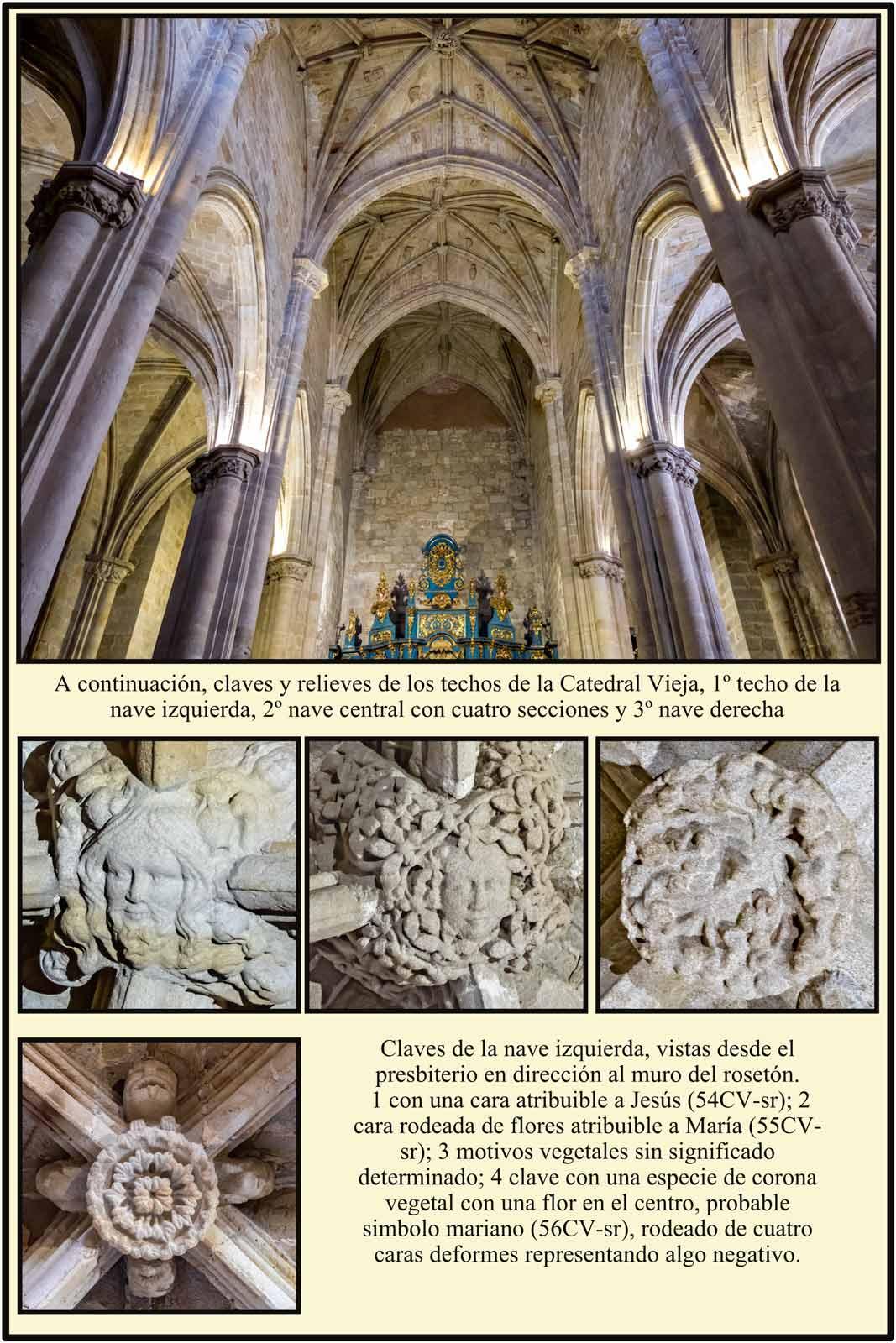 Plasencia vista de las bovedas romanicas claves con simbolos romanicos