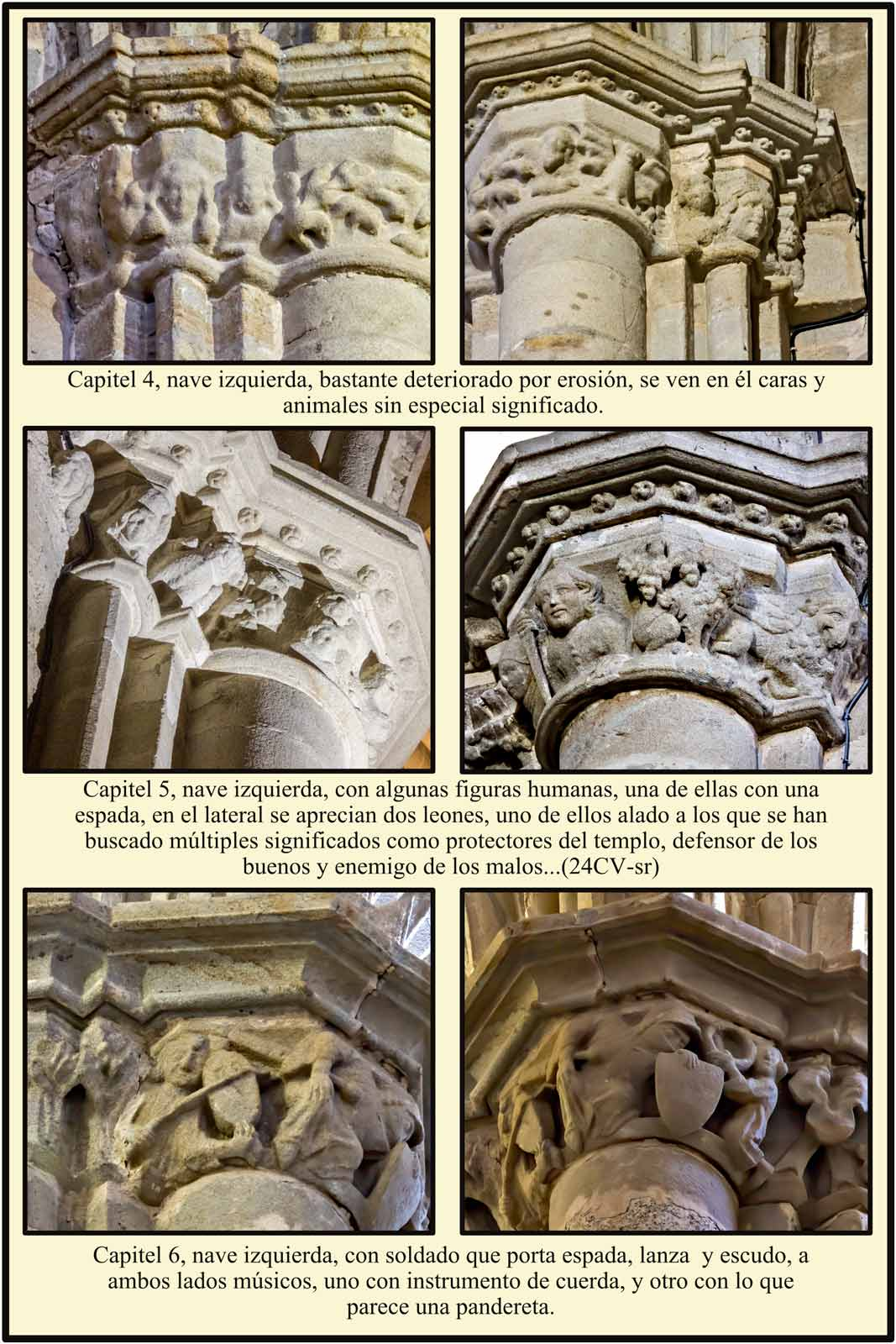 Plasencia capiteles romanicos Catedral Vieja