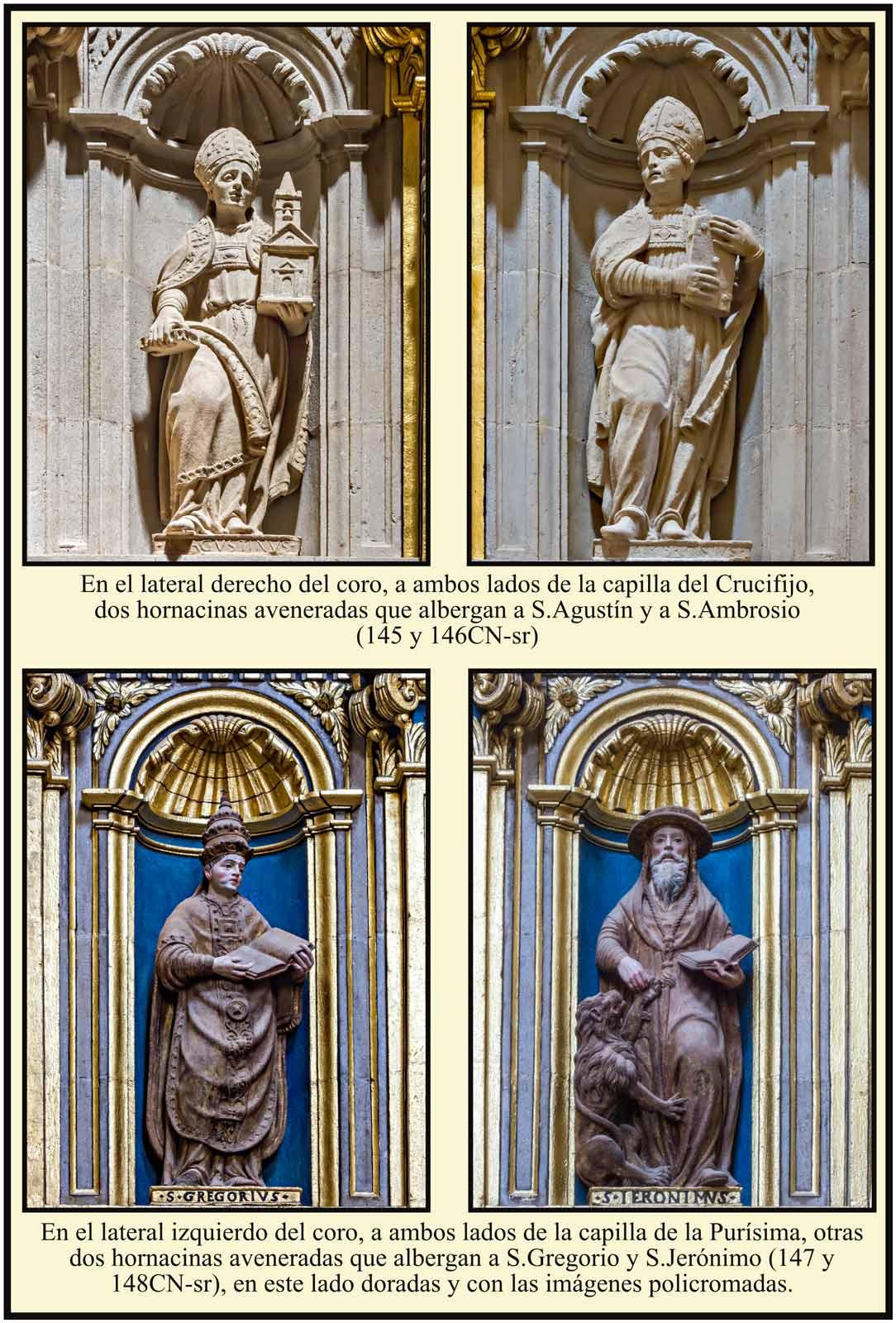 Padres de la Iglesia en hornacinas aveneradas
