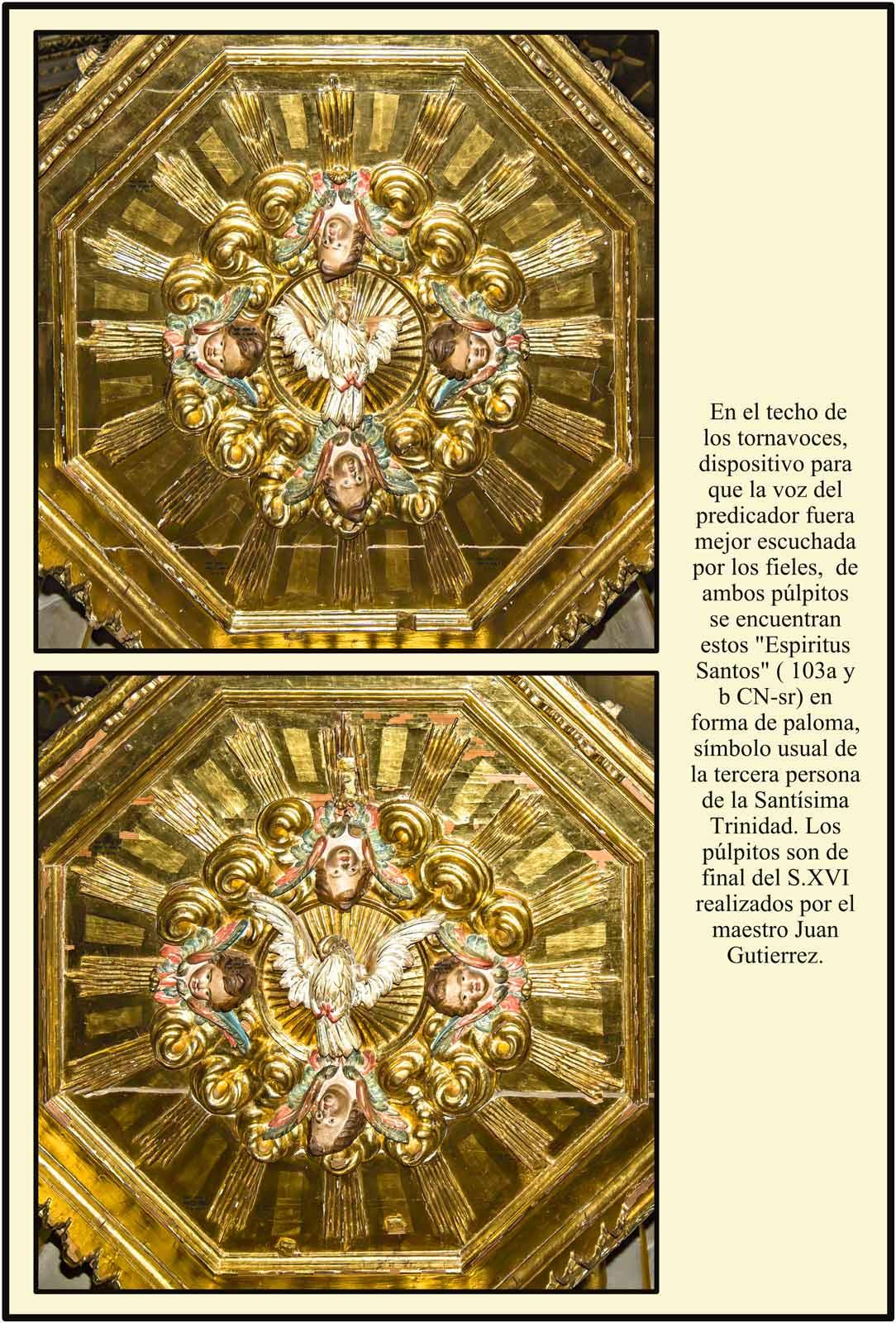 Tornavoz pulpitos Catedral Plassencia