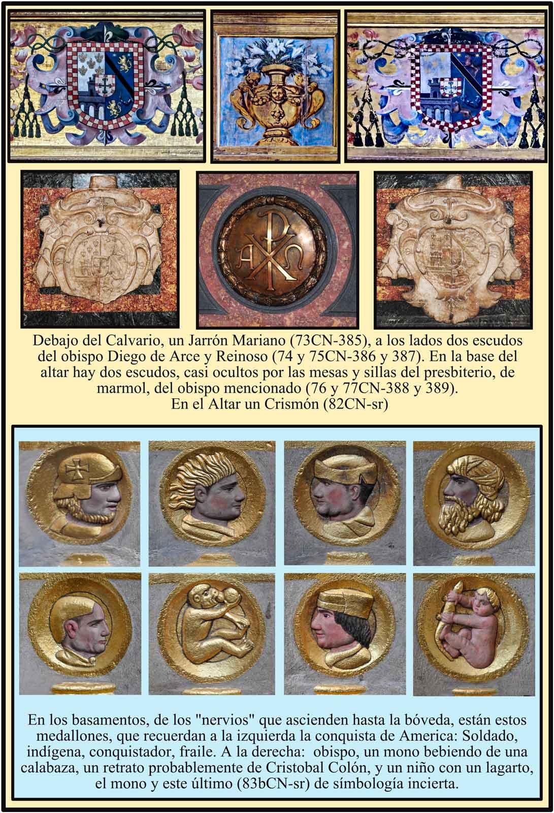 simbolos de la conquista de America Catedral de Plasencia