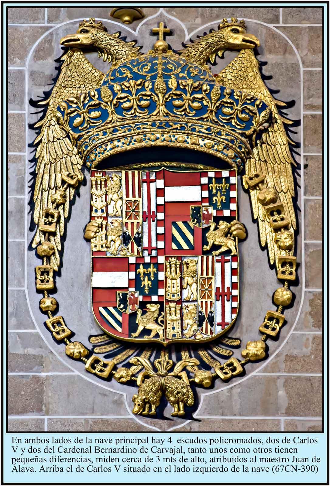 Escudo de Carlos V policromado