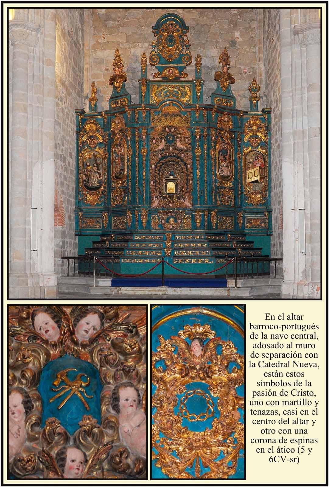 Caedral Plasencia Altar Barroco portugues en la nave central