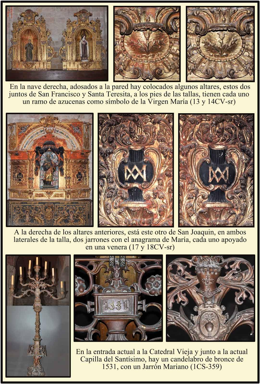 Altares Catedral Vieja Plasencia Simbolos marianos