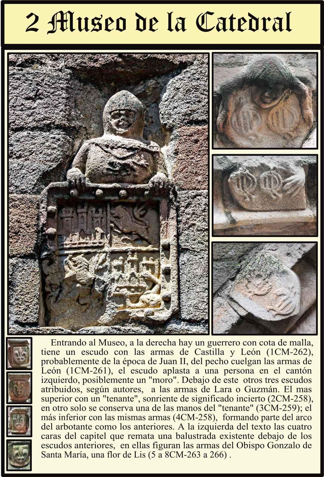 escudos en la entrada al Museo de la Catedral