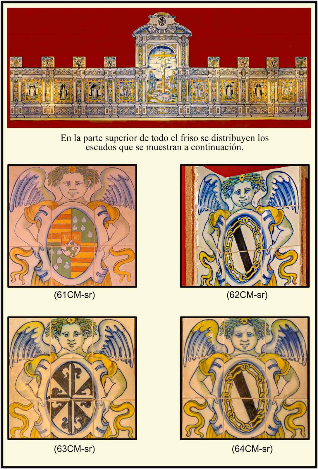 azulejos de la sacristia del convento de San Vicente Escudos Pimentel Zuñiga Predicadores