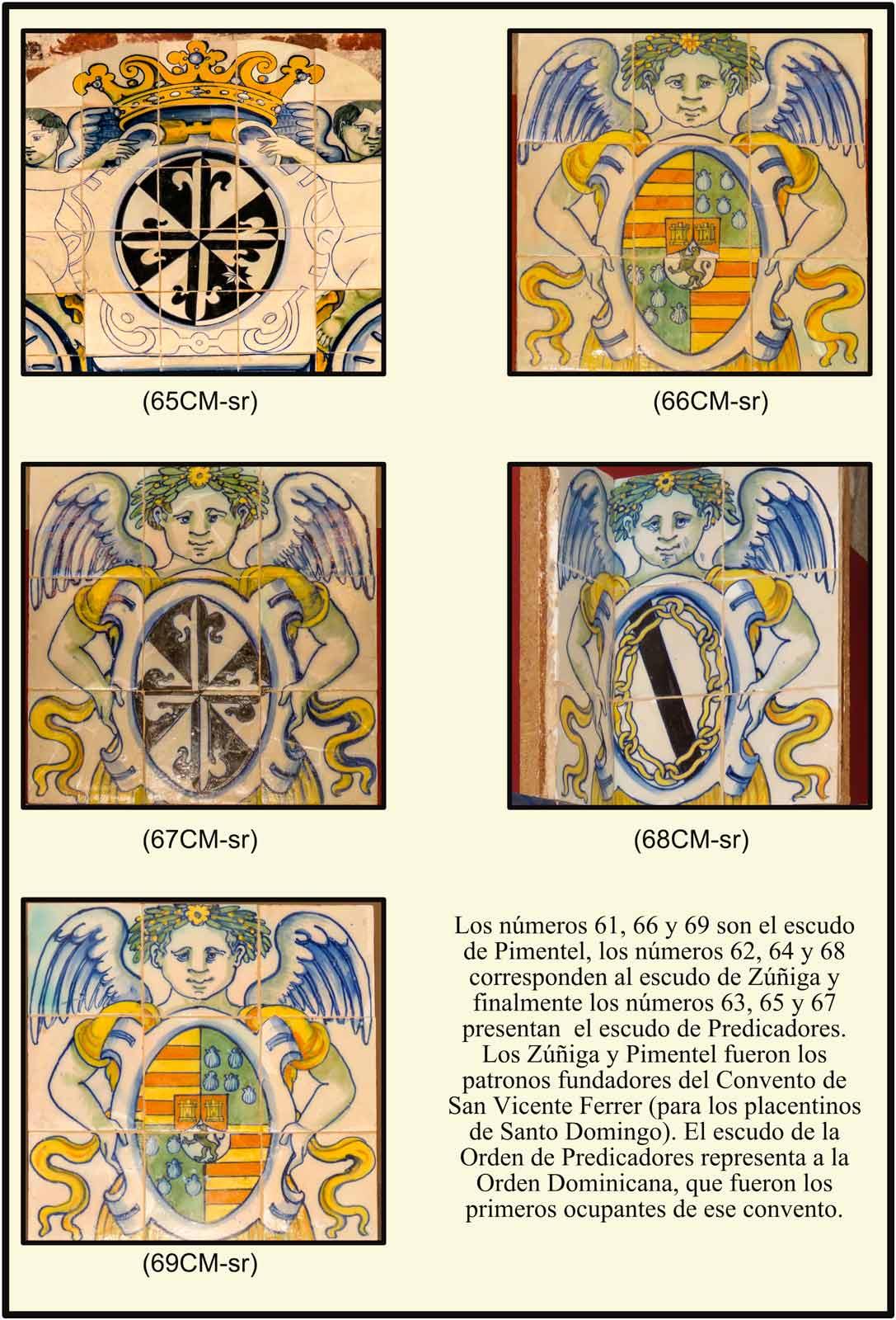 Catedral Plasencia azulejos con escudos Museo